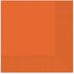 Large Orange Napkins - pk20
