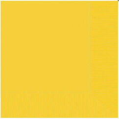 Large Yellow Napkins - pk20