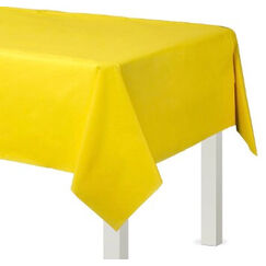 Yellow Plastic Tablecloth