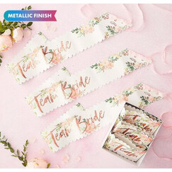 Floral Team Bride Sashes - pk6