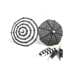 Black and White Umbrella Picks - pk12