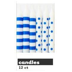 Blue Polka Dots Candles - pk12