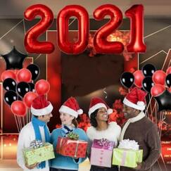 Red 2021 Balloon Kit (86cm)
