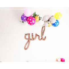 Girl Script Balloon Kit - helium not needed