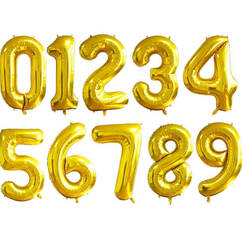 Gold Balloon - choose Number (86cm)