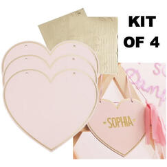 Pink Heart Signs Kit - Personalise It