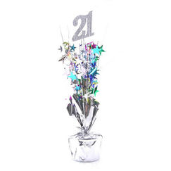 21 Silver and Multi-colour Spray Table Centrepiece