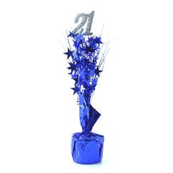21 Silver and Blue Spray Table Centrepiece