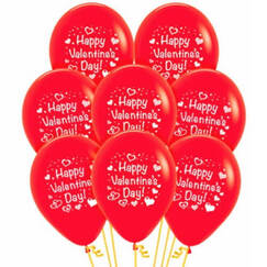 Happy Valentines Day Balloons - pk12