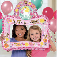 Unicorn Photo Prop Balloon - helium not needed