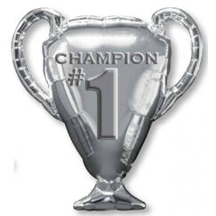 Silver Champion #1 Trophy Balloon (71cm)