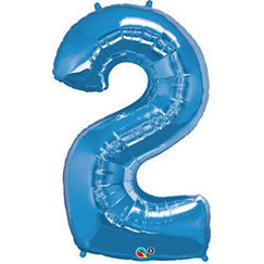 Number 2 Balloon - Blue