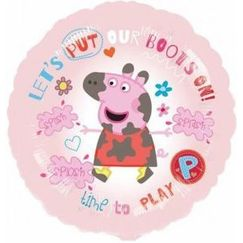 Put our Boots On Peppa Pig Foil Balloon