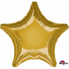 Gold Star Foil Balloon (45cm)