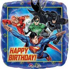 Birthday Justice League Foil Balloon