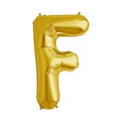 Letter F Megaloon Balloon - Gold