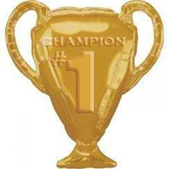 Gold Champion #1 Trophy Balloon