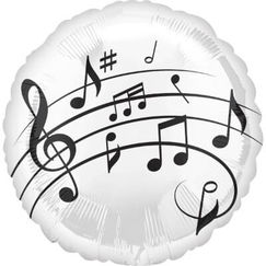 Music Notes Foil Balloon (45cm)