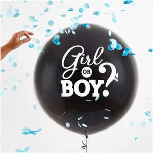 Gender Reveal BOY Balloon with Confetti (60cm)