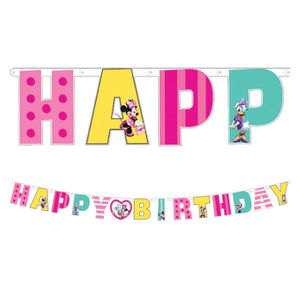 Minnie Mouse Happy Helpers Birthday Banner Kit