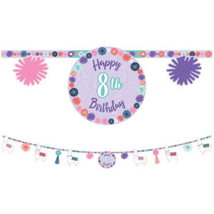 Llama Fun Birthday Banner Kit - Add An Age
