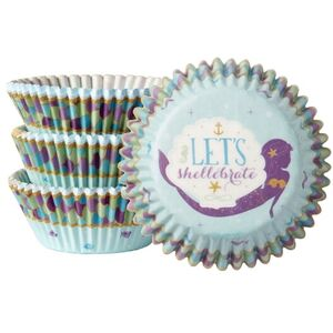 Mermaid Wishes Cupcake Cases - pk75