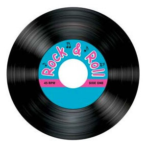 Rock And Roll Record Coasters - pk8