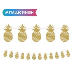 Hot Stamped Gold Pineapple Garland
